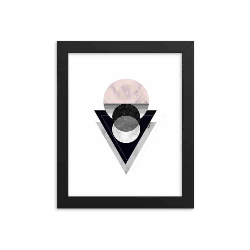 Phase Moon Framed Art Print - Your Own Unique