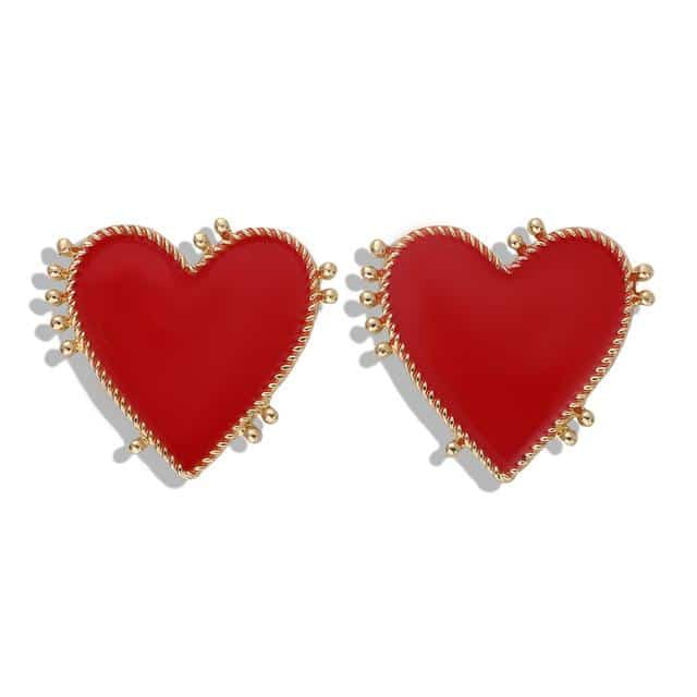 Resin Acrylic Edgy Heart Earrings - Your Own Unique