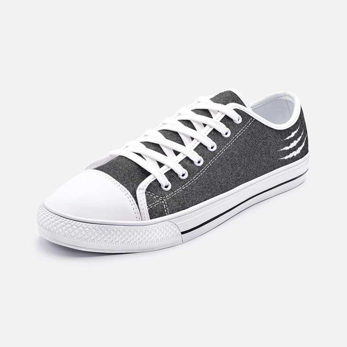 Ripped Grey Low Top Sneakers - Your Own Unique