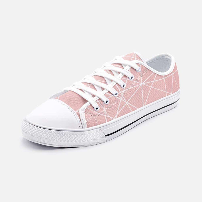 Rose Gold Unisex Low Top Sneakers - Your Own Unique
