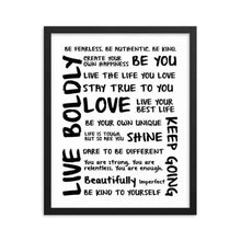 Load image into Gallery viewer, Self Love Framed Art Print - Your Own Unique