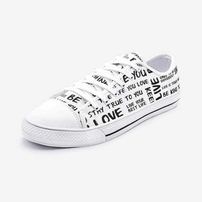 Self Love Unisex Low Top Sneakers - Your Own Unique