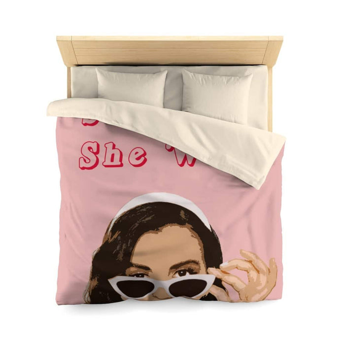 She Can, She Will Microfiber Duvet Cover - Your Own Unique