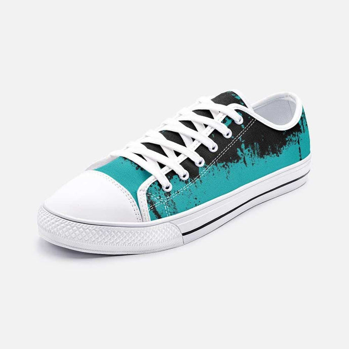 Teal Drip Unisex Low Top Sneakers - Your Own Unique