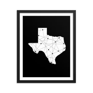 Texas Born & Raised Framed Art Print - Your Own Unique