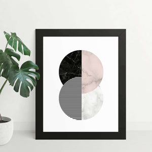 Three Phases Abstract Framed Art Print - Your Own Unique