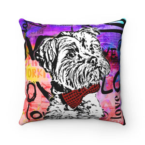 Yorkie Love Pillow - Your Own Unique