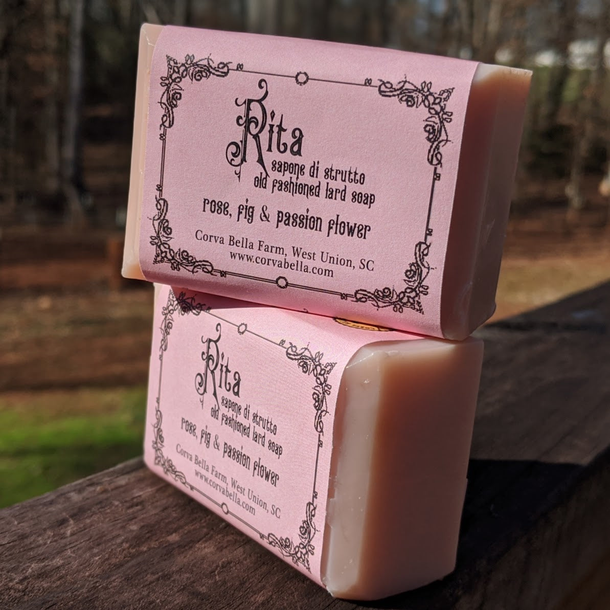 RITA lard soap - Fig, Passionflower & Rose