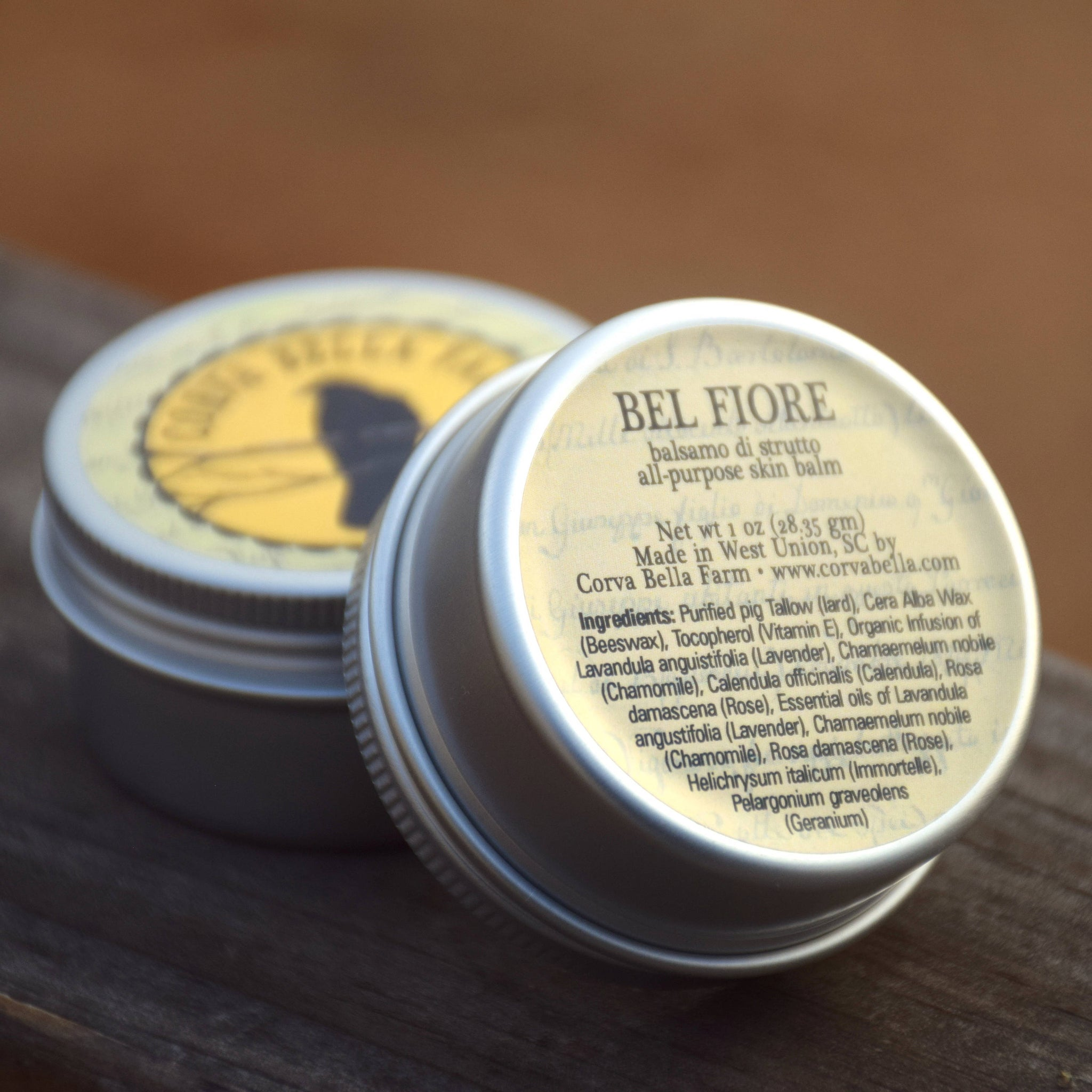 Bel Fiore (One oz. size) All-purpose pig tallow skin balm