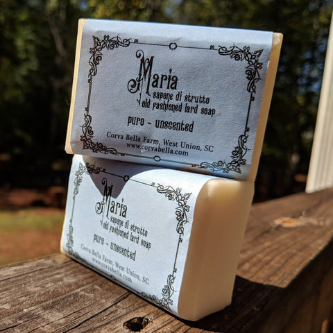Maria lard soap - Pure & unscented