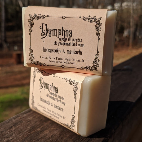 DYMPHNA lard soap - Honeysuckle & Mandarin
