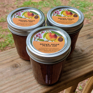 Brown Sugar Peach Jam - 8 oz