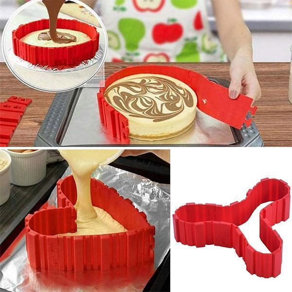 Free-Shaping Silicone Cake Mould 4PCS