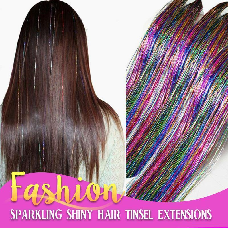 Sparkly Hair Tinsel Silk Extension