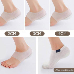 Invisible Height Increased Silicone Lift Insoles