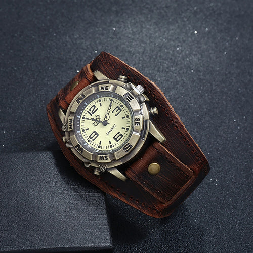 Relogio Masculino Leather Strap Watch
