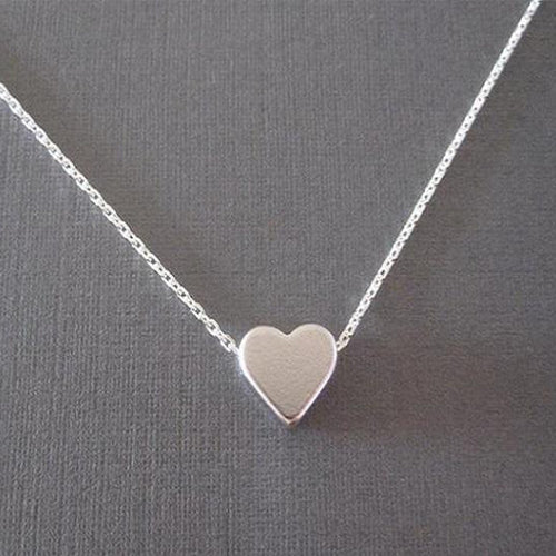 Elegant Tiny Heart Shaped Pendant Necklace