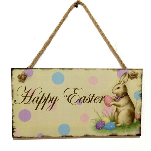 Classic Easter Hanging Sign Decor