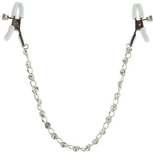 nipple play Crystal Chain Nipple Clamps - Sex Toys Vancouver Same Day Delivery