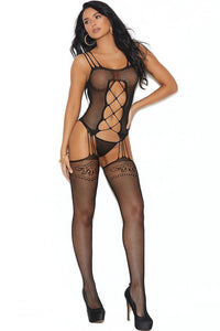 Mercy, Mercy Criss-Cross Bodystocking - Sex Toys Vancouver Same Day Delivery