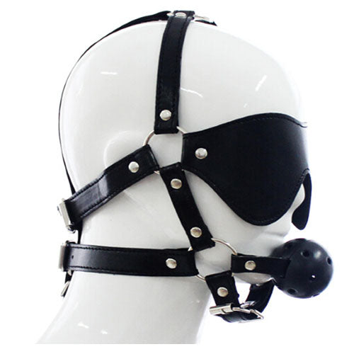 Black Mask with Ball Gag - Sexy.Delivery Sex Toys Delivery