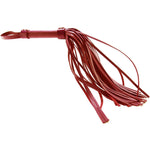 Leather Flogger in Red - Sex Toys Vancouver Same Day Delivery