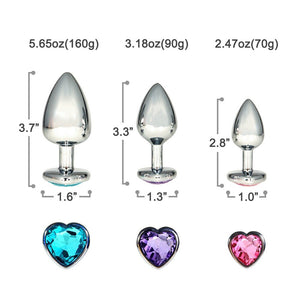 Heart Shaped 3 PCS Butt Plugs - Sex Toys Vancouver Same Day Delivery