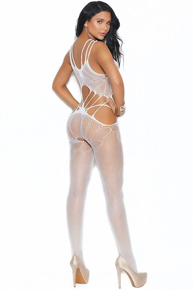White Flower Child Bodystocking - Sex Toys Vancouver Same Day Delivery