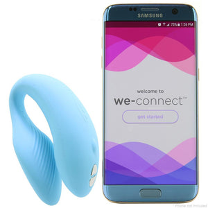 We-Vibe Chorus Couples Vibrator With Squeeze Control Waterproof Rechargeable Blue - Sex Toys Vancouver Same Day Delivery