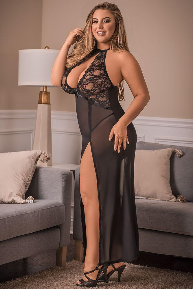 Black Widow Lace Gown and G-String