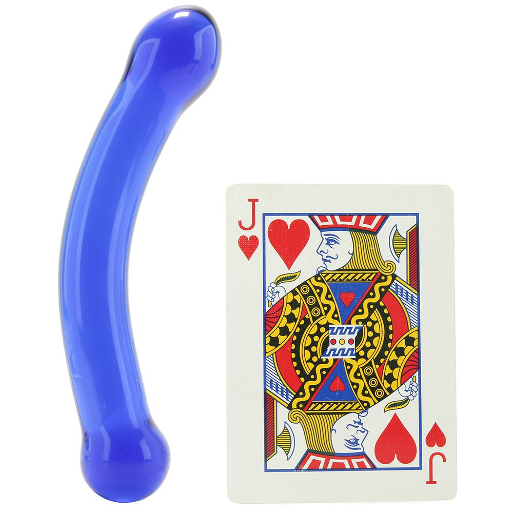 "6"" Curved G-Spot Glass Dildo - Sex Toys Vancouver Same Day Delivery"