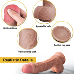 Luxury Real Skin 8 Inch Dildo - Sex Toys Vancouver Same Day Delivery