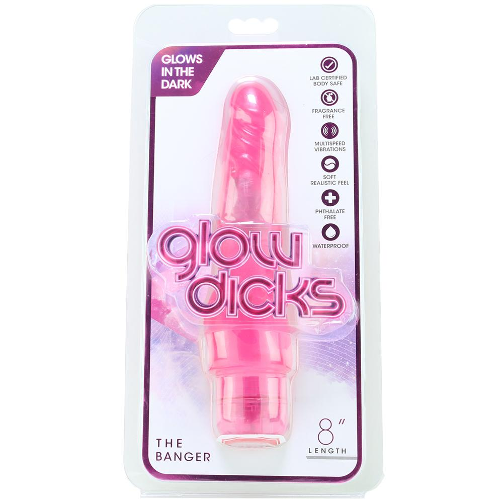 "Glow Dicks 8"" The Banger Vibe in Pink"