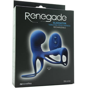 Renegade Gladiator Vibrating Penis Harness in Blue - Sex Toys Vancouver Same Day Delivery