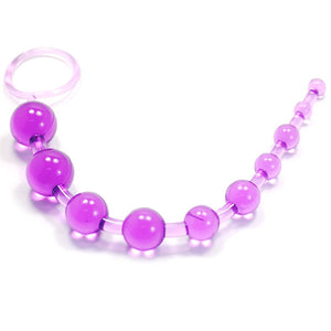 Purple 10 Beads Anal Toy - Sex Toys Vancouver Same Day Delivery
