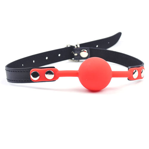 Red Silicone Ball Gag - Sexy.Delivery Sex Toys Delivery