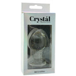 Crystal Premium Glass Medium Butt Plug in Clear - Sex Toys Vancouver Same Day Delivery