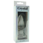 Crystal Premium Glass Medium Tapered Plug in Clear - Sex Toys Vancouver Same Day Delivery