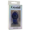 Crystal Premium Glass Small Butt Plug in Blue - Sex Toys Vancouver Same Day Delivery