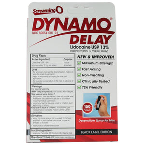 Dynamo Delay Spray in .5oz/15ml - Sex Toys Vancouver Same Day Delivery