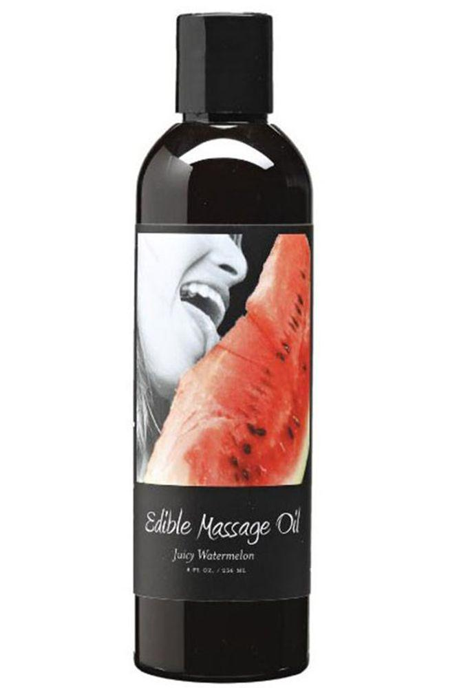 Edible Massage Oil 8oz/237ml in Juicy Watermelon - Sex Toys Vancouver Same Day Delivery