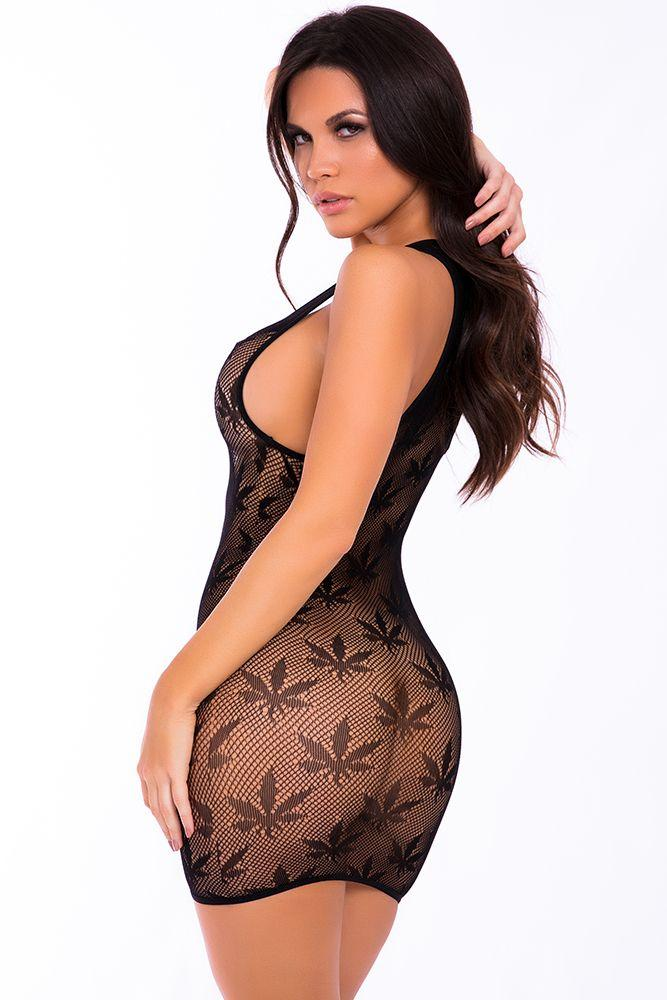 Black Festival Flirt Net Dress - Sex Toys Vancouver Same Day Delivery