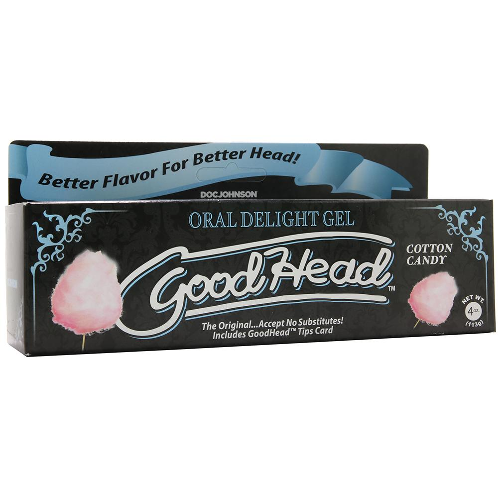GoodHead Oral Delight Gel 4oz/113g in Cotton Candy - Sex Toys Vancouver Same Day Delivery