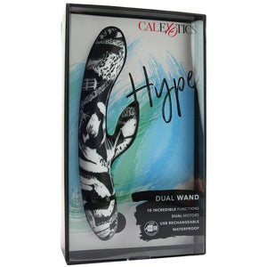 Hype Waterproof Dual Stimulator Wand Vibe - Sex Toys Vancouver Same Day Delivery