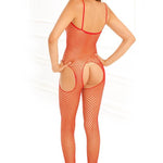 Industrial Net Red Suspender Bodystocking - Sex Toys Vancouver Same Day Delivery