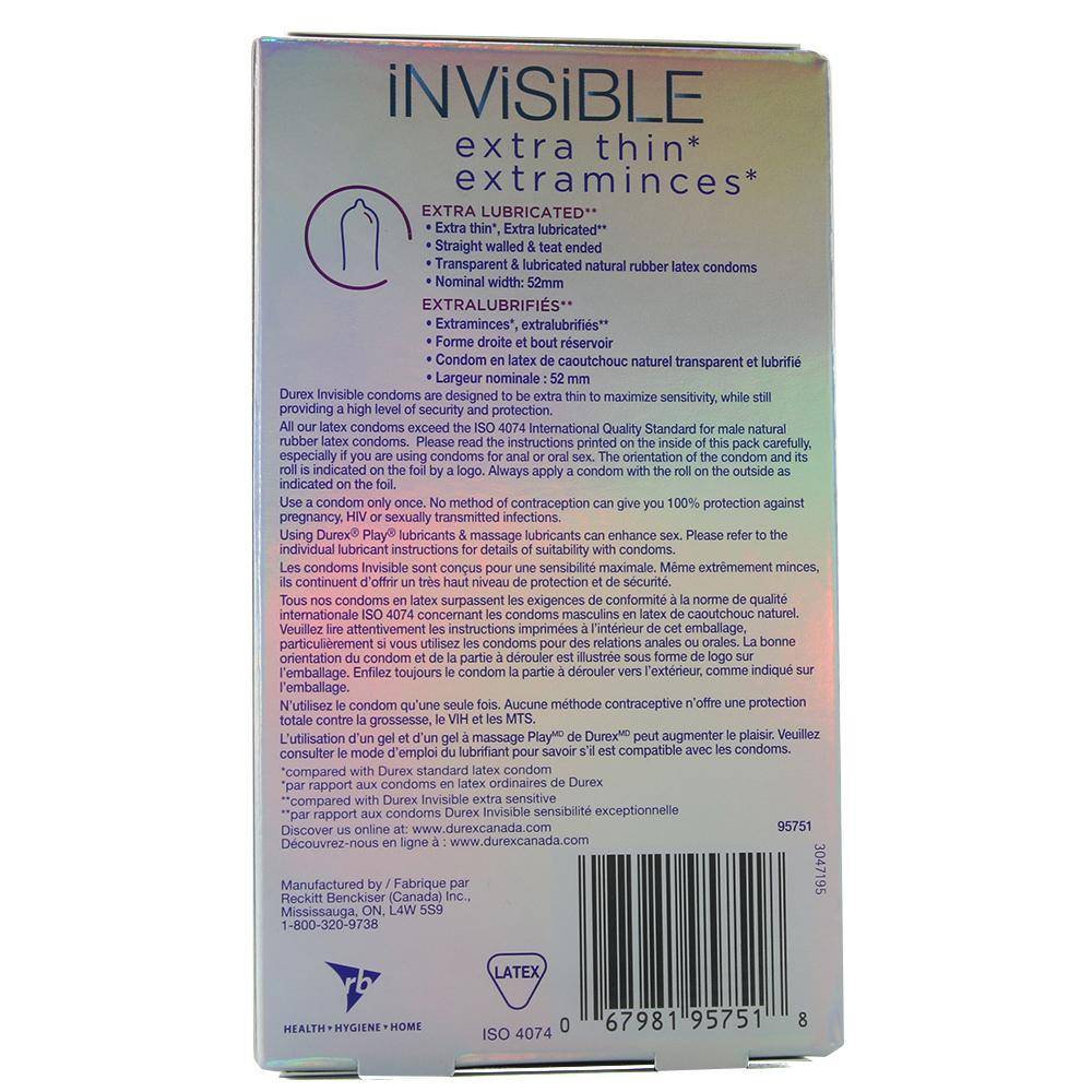Invisible Extra Smooth Condoms in 8 Pack - Sex Toys Vancouver Same Day Delivery