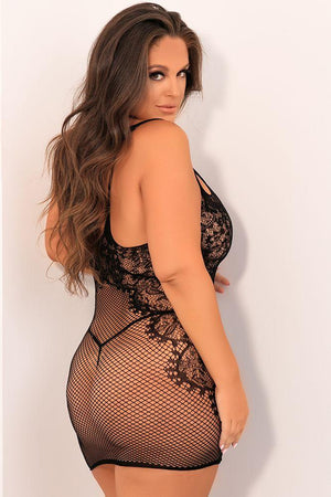 Lace and Net Strap Dress - Sex Toys Vancouver Same Day Delivery