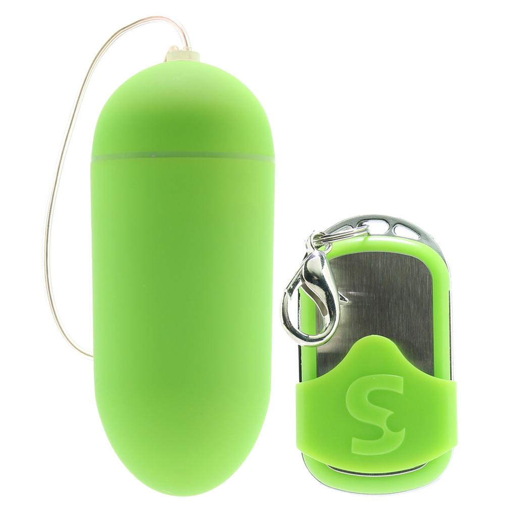 Macey Large Remote Control Egg Vibe in Green