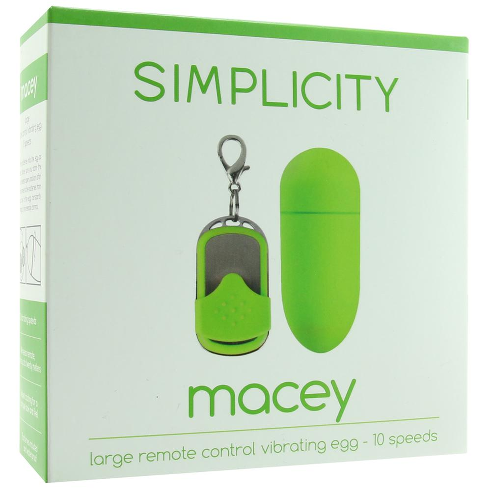 Macey Large Remote Control Egg Vibe in Green - Sex Toys Vancouver Same Day Delivery