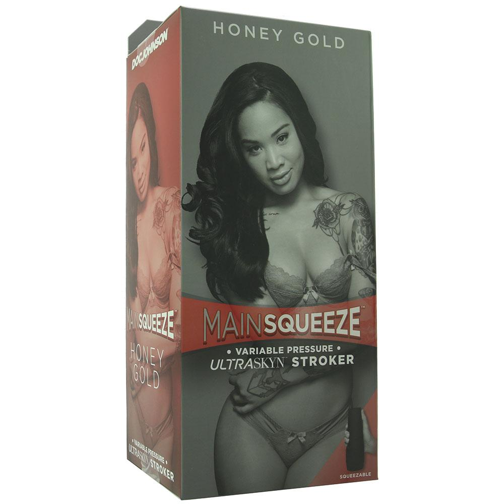 Main Squeeze Honey Gold ULTRASKYN Stroker - Sex Toys Vancouver Same Day Delivery